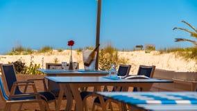 Spiaggia Antivari e ristorante Fotografia Stock