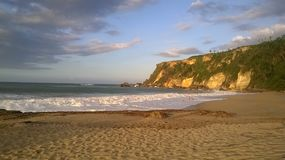 Spiaggia Aquadillia Porto Rico 2017 di Borinquen fotografie stock