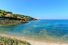 Spiaggia aSanary-sur-MER, varietà, Francia Immagine Stock Libera da Diritti