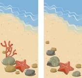 Spiaggia astratta della priorità bassa Fotografie Stock Libere da Diritti