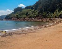 Spiaggia in Asturia immagine stock