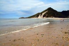 Spiaggia in Asturia Fotografia Stock Libera da Diritti
