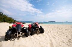 Spiaggia ATV Fotografia Stock Libera da Diritti