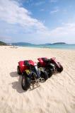 Spiaggia ATV Fotografie Stock Libere da Diritti