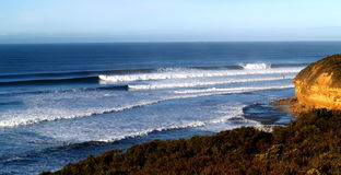 spiaggia Australia dei segnalatori acustici Fotografie Stock