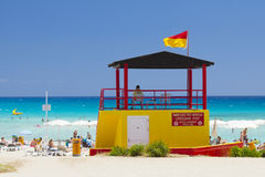 Spiaggia Ayia Napa Cipro del bagnino Immagini Stock