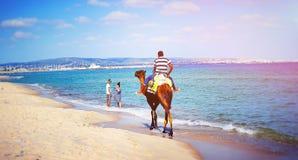 Spiaggia azzurra del sole del mare di Tunisi fotografia stock libera da diritti