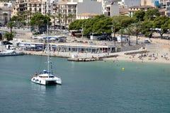 Spiaggia Balearic Island di Oporto Cristo Mallorca Fotografia Stock