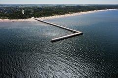 Spiaggia baltica Fotografie Stock