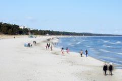 Spiaggia baltica Binz Immagine Stock