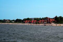 Spiaggia baltica occupata Immagine Stock