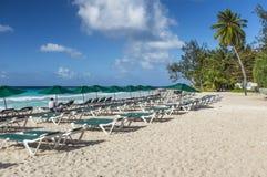 Spiaggia Barbados le Antille di Accra Immagini Stock Libere da Diritti