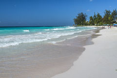 Spiaggia Barbados le Antille di Rockley Fotografia Stock Libera da Diritti