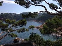 Spiaggia Begur Spagna della baia fotografia stock libera da diritti