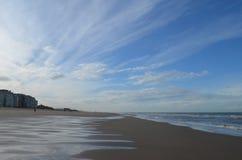 Spiaggia belga Fotografie Stock