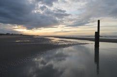 Spiaggia belga Immagine Stock