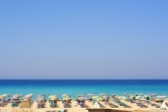 Spiaggia bella Fotografia Stock