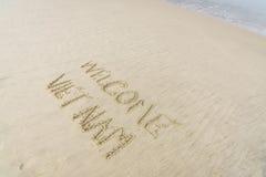 Spiaggia benvenuta del Vietnam Immagine Stock