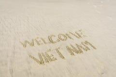 Spiaggia benvenuta del Vietnam Fotografia Stock Libera da Diritti