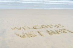 Spiaggia benvenuta del Vietnam Immagini Stock Libere da Diritti