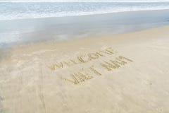 Spiaggia benvenuta del Vietnam Fotografie Stock