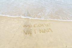 Spiaggia benvenuta del Vietnam Immagine Stock Libera da Diritti