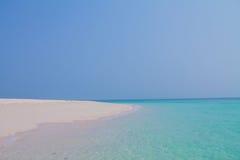 Spiaggia bianca Fotografia Stock