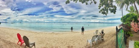 Spiaggia bianca fotografie stock libere da diritti
