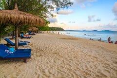 Spiaggia bianca del KOH KONG nella PROVINCIA del kong del KOH in Cambogia fotografia stock libera da diritti