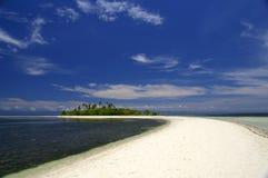 Spiaggia bianca del Virgin della sabbia Fotografie Stock Libere da Diritti