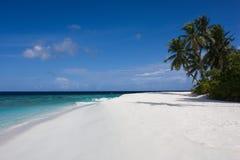Spiaggia bianca della sabbia Immagini Stock Libere da Diritti