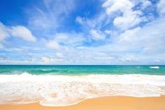 Spiaggia bianca della sabbia Immagine Stock