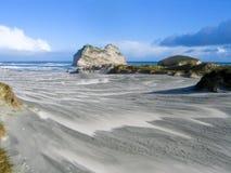 Spiaggia bianca della sabbia Immagini Stock