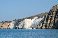 Spiaggia bianca delle rocce Fotografie Stock Libere da Diritti