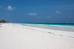 Spiaggia bianca di Tulum nel Messico Fotografia Stock Libera da Diritti