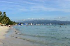 Spiaggia bianca Filippine fotografia stock libera da diritti