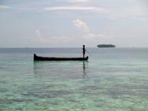 Spiaggia bianca tropicale caraibica della sabbia Fotografia Stock Libera da Diritti