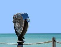 Spiaggia binoculare Fotografia Stock