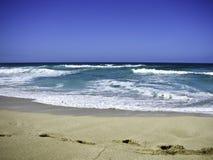 Spiaggia blu Immagine Stock Libera da Diritti