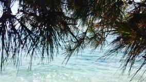 Spiaggia blu Immagini Stock Libere da Diritti