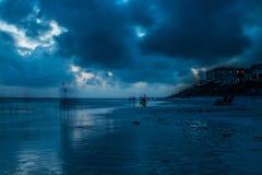 Spiaggia blu confusa della montagna Fotografia Stock