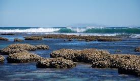Spiaggia blu dei fori: Stagni di marea Fotografia Stock