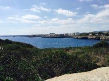 Spiaggia blu Majorque di Ibiza Immagine Stock Libera da Diritti