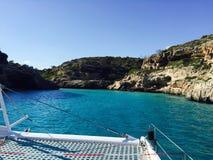 Spiaggia blu Majorque di Ibiza Immagini Stock