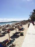 Spiaggia blu Majorque di Ibiza Fotografia Stock Libera da Diritti