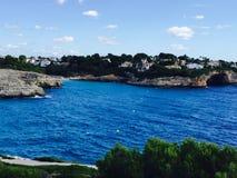 Spiaggia blu Majorque di Ibiza Fotografie Stock