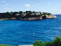 Spiaggia blu Majorque di Ibiza Immagini Stock Libere da Diritti