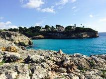 Spiaggia blu Majorque di Ibiza Immagine Stock
