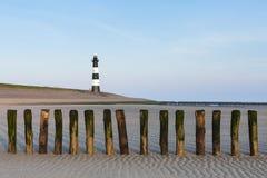 Spiaggia a Breskens in primavera fotografie stock