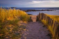 Spiaggia in brittany Fotografia Stock